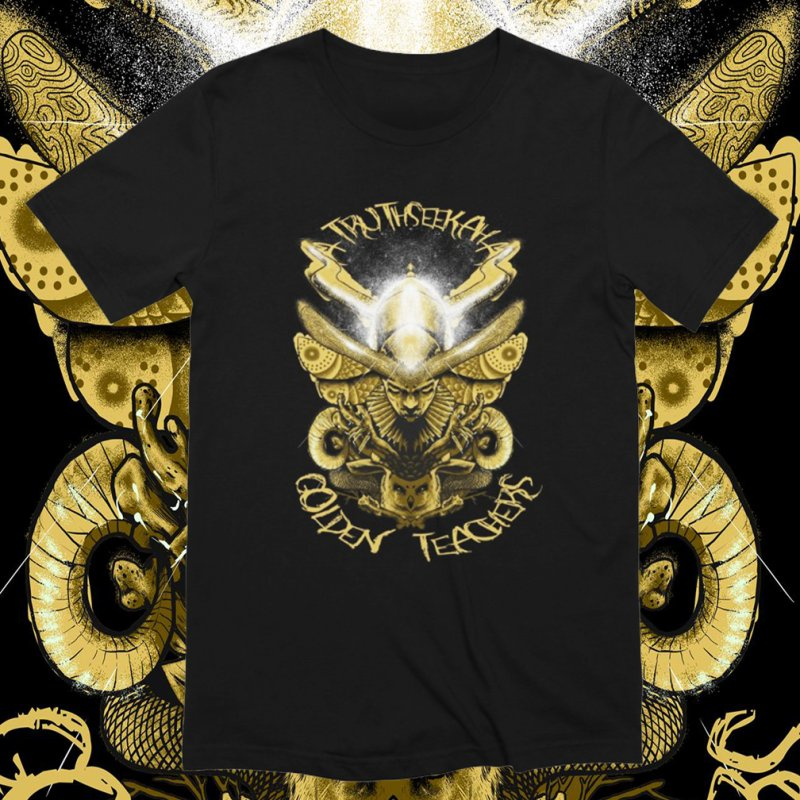 Golden Teachers in Men's Extra Soft T-Shirt Black by TruthSeekah Clothing