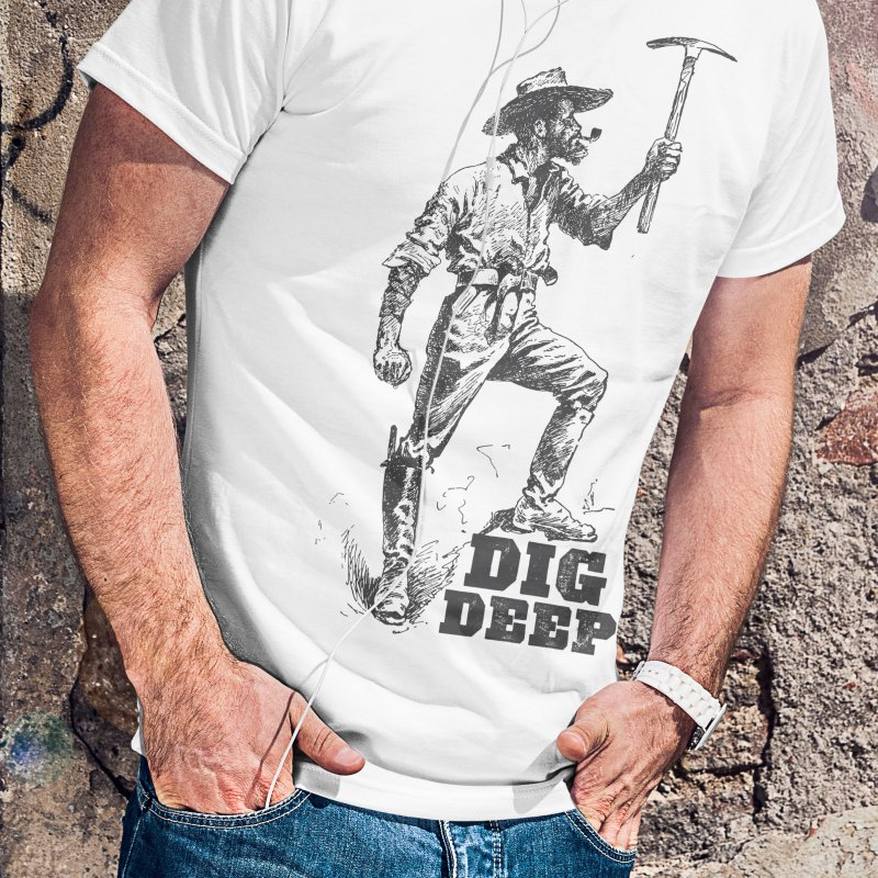 Dig Deep in Men's Regular T-Shirt White by Vet Design's Shop
