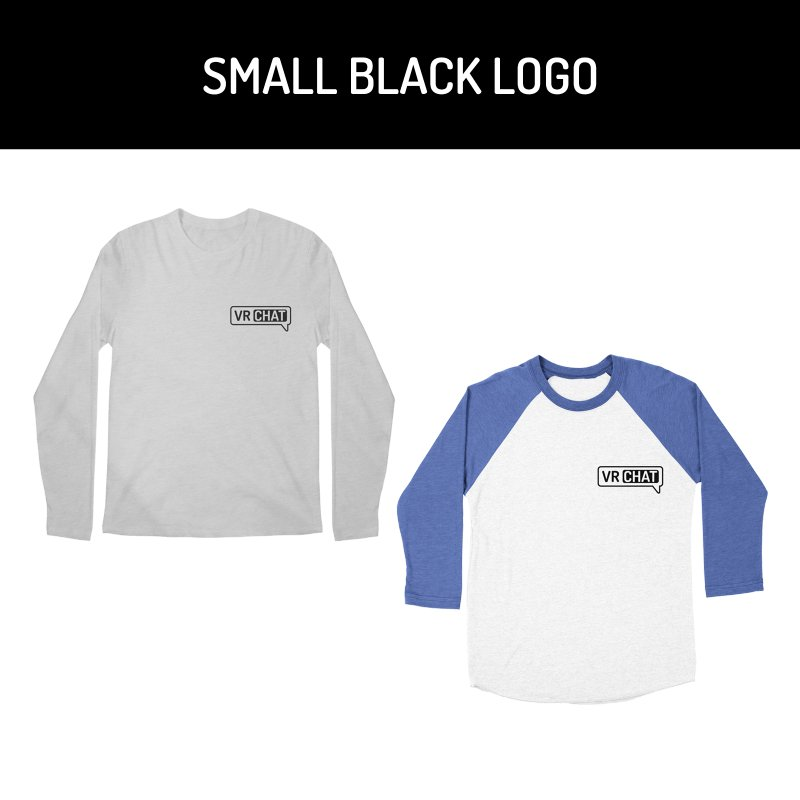 Men's Long Sleeve Shirts - Small Black Logo by VRChat Merchandise