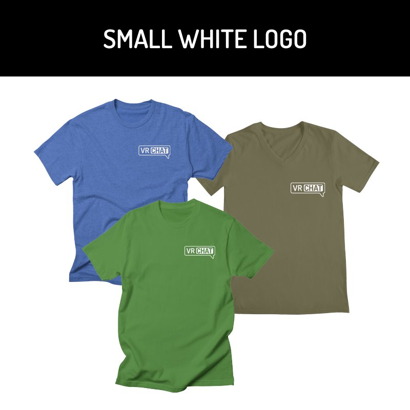 Mens Short Sleeve Shirts - Small White Logo by VRChat Merchandise