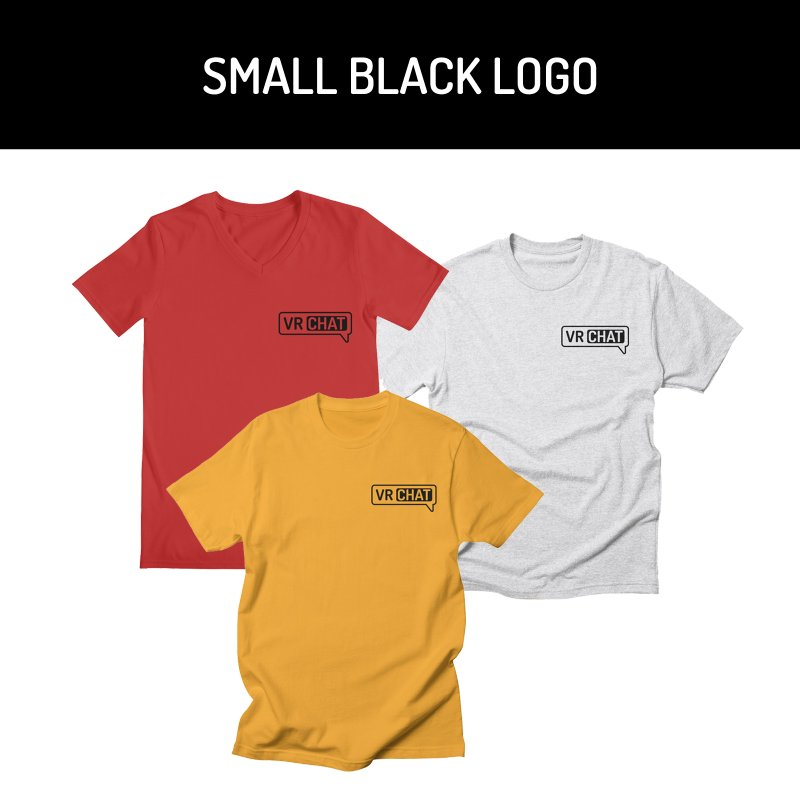 Mens Short Sleeve Shirts - Small Black Logo by VRChat Merchandise