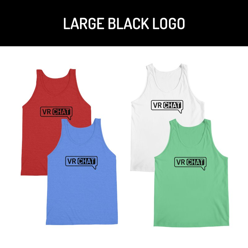 Men's Tank Tops - Large Black Logo by VRChat Merchandise