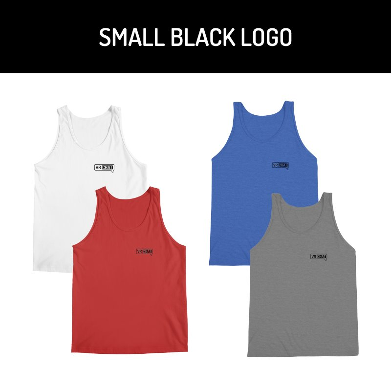 Men's Tank Tops - Small Black Logo by VRChat Merchandise