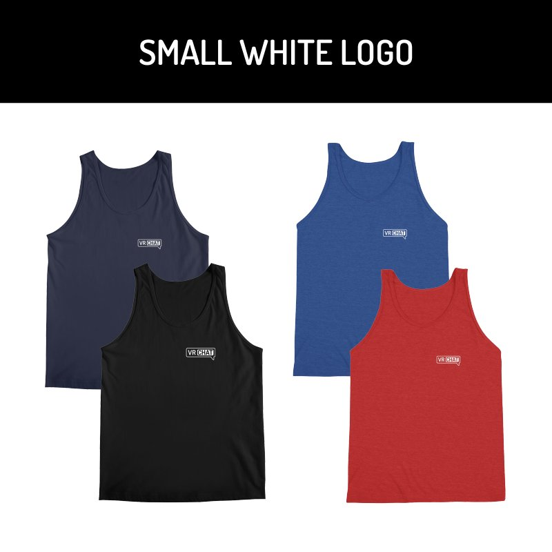 Men's Tank Tops - Small White Logo by VRChat Merchandise