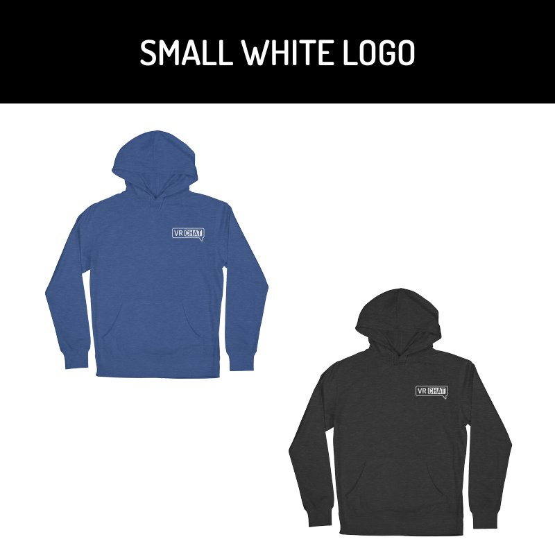 Unisex Pullover Hoodie - Small White Logo by VRChat Merchandise
