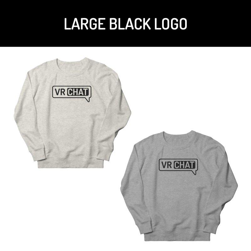 Unisex Sweatshirt - Large Black Logo by VRChat Merchandise