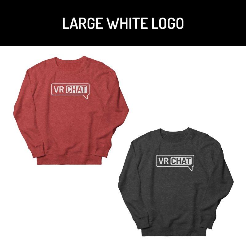 Unisex Sweatshirt - Large White Logo by VRChat Merchandise