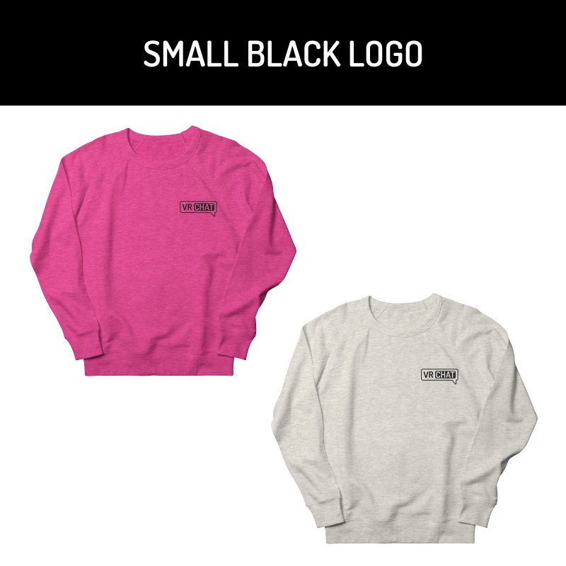 Unisex Sweatshirt - Small Black Logo by VRChat Merchandise