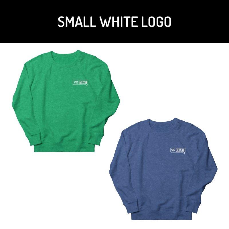 Unisex Sweatshirt - Small White Logo by VRChat Merchandise