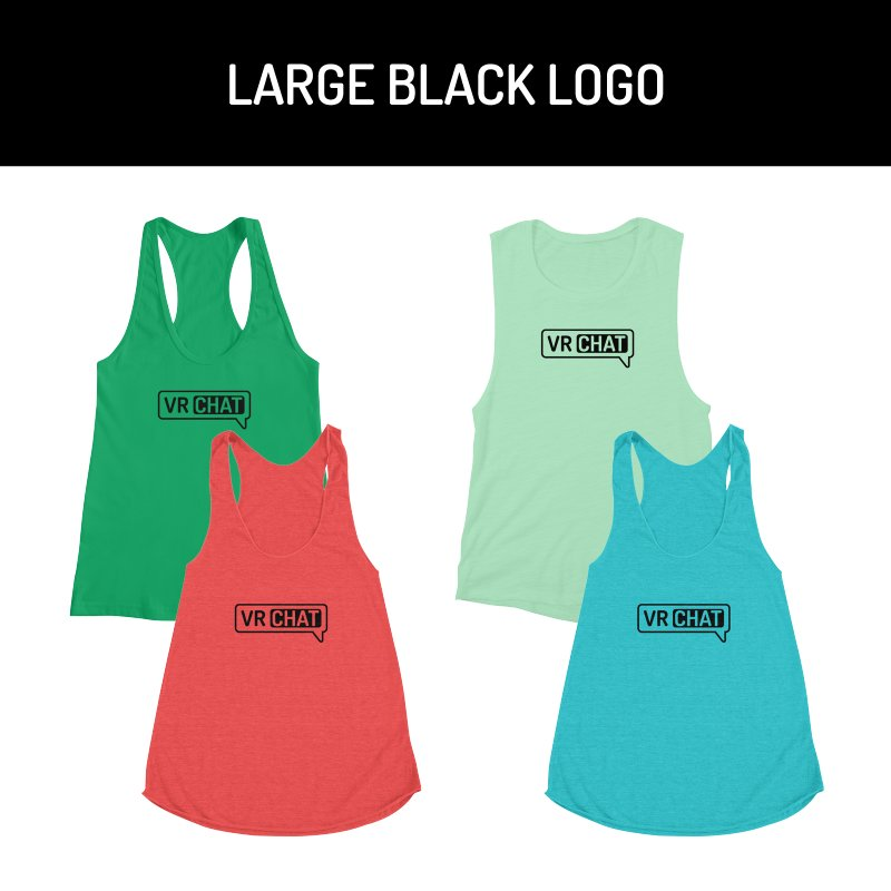 Women's Tank Tops - Large Black Logo by VRChat Merchandise
