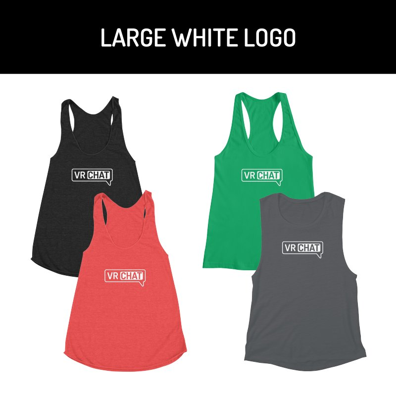 Women's Tank Tops - Large White Logo by VRChat Merchandise