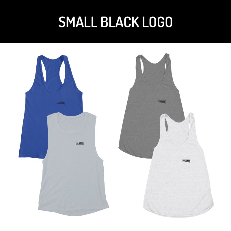 Women's Tank Tops - Small Black Logo by VRChat Merchandise