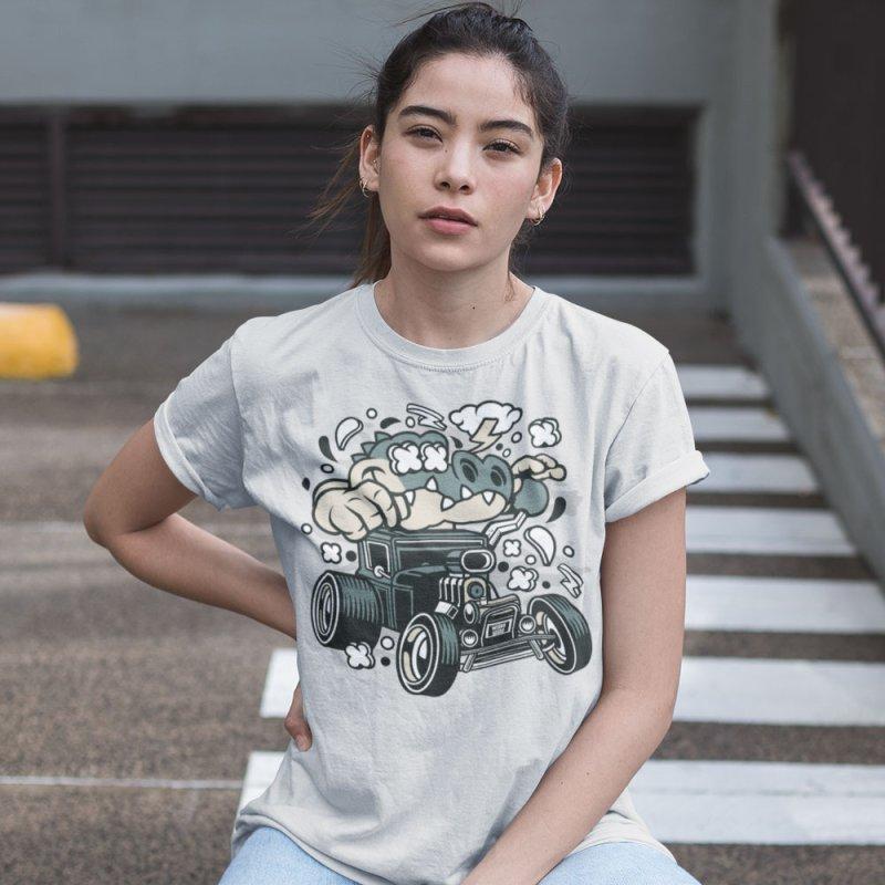 Croc Rod in Men's Extra Soft T-Shirt Heather Grey by WackyToonz