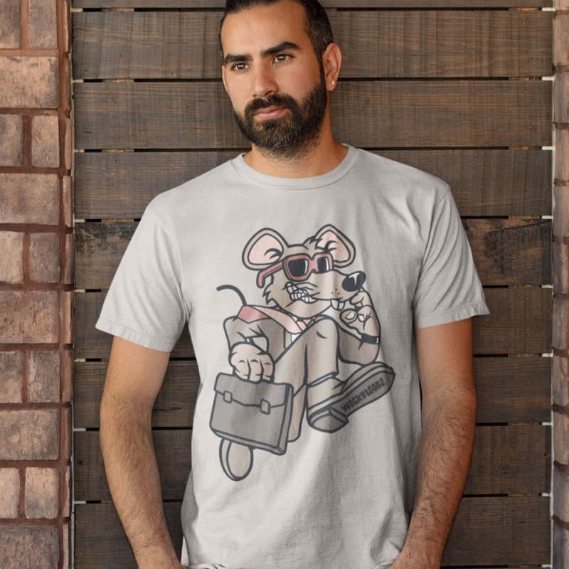 Rat Race Escape in Men's Extra Soft T-Shirt Stone by WackyToonz