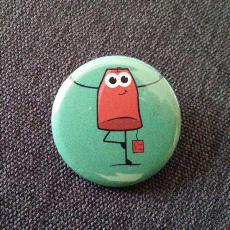 Beware I'm trained in Chai Tea in Button by WeirdPeople's ArtistShop
