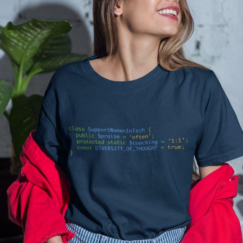 Support Women In Tech in Women's Regular Unisex T-Shirt Smoke by Women in Technology Online Store