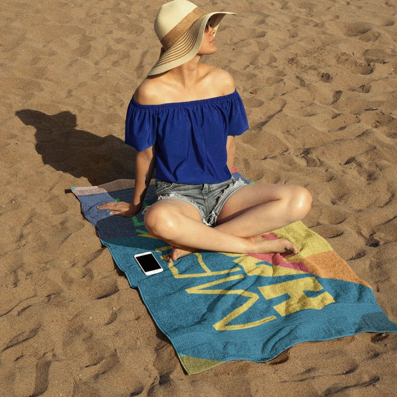 Make Happy in Beach Towel by A Wonderful Shop of Wonderful Wonders