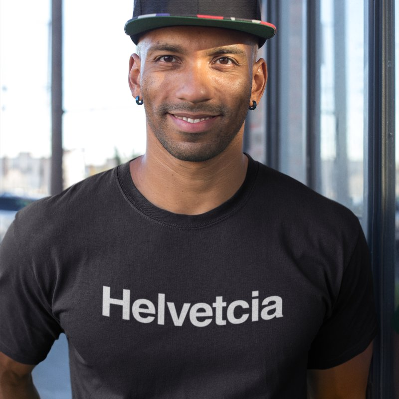 Helvetcia in Men's Triblend T-Shirt Heather Onyx by A Wonderful Shop of Wonderful Wonders