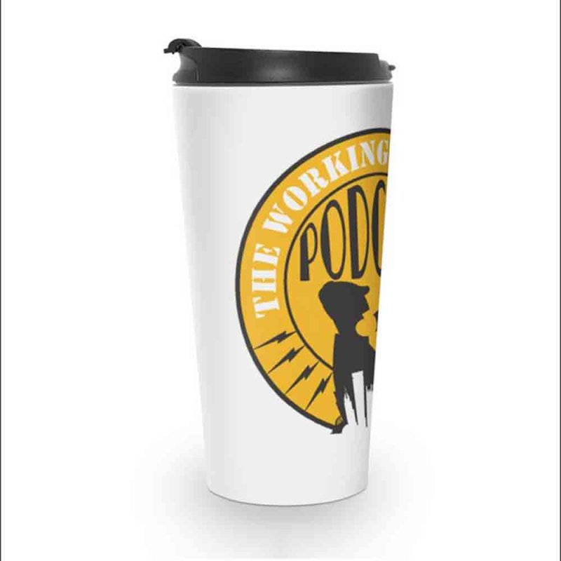 The Working Stiffs Podcast Logo in Travel Mug by The Working Stiffs Shop