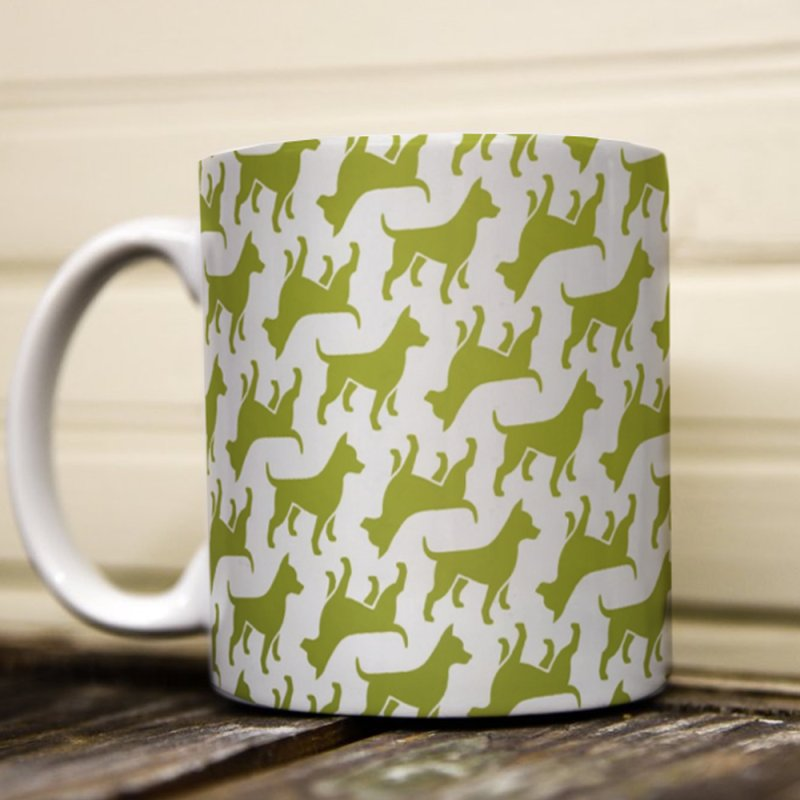 Puppy Pattern - Grass by Zebradog Merch