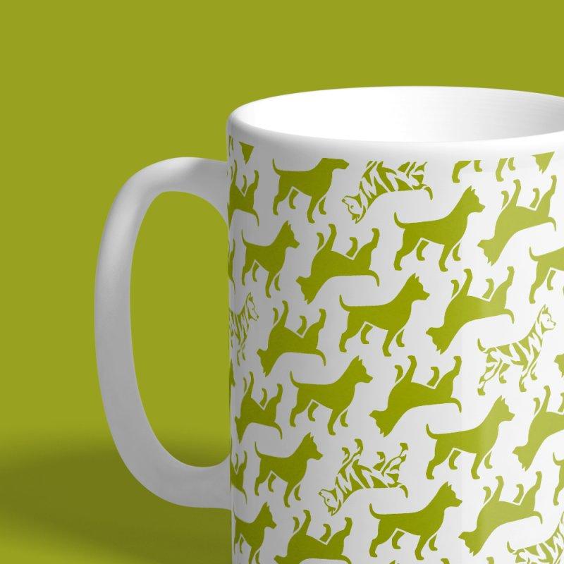 Dog Print (grass) by Zebradog Apparel & Accessories