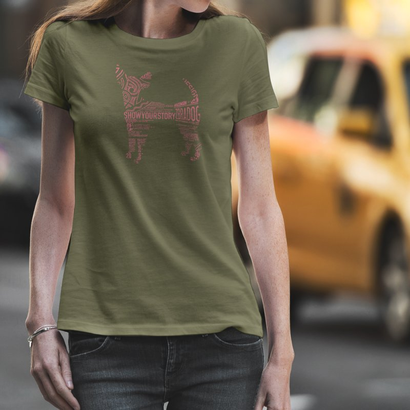 Show Your Story (Pink on Green) by Zebradog Apparel & Accessories