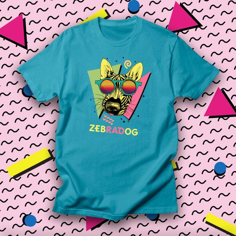 zebRADog in Men's Regular T-Shirt Cyan by Zebradog Apparel & Accessories