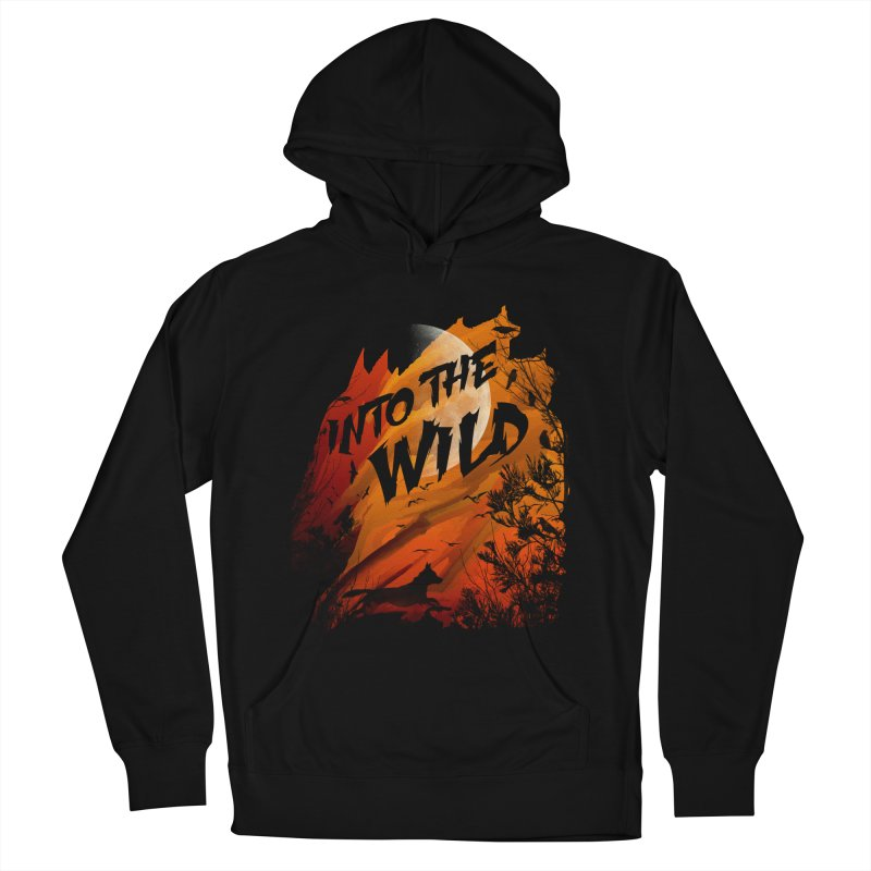 Into The Wild Men's French Terry Pullover Hoody by AGIMATNIINGKONG's Artist Shop