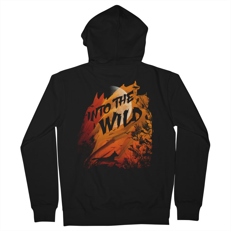 Into The Wild Men's French Terry Zip-Up Hoody by AGIMATNIINGKONG's Artist Shop