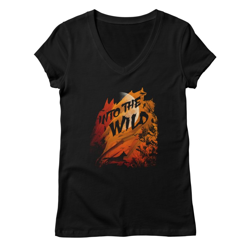 Into The Wild Women's V-Neck by AGIMATNIINGKONG's Artist Shop