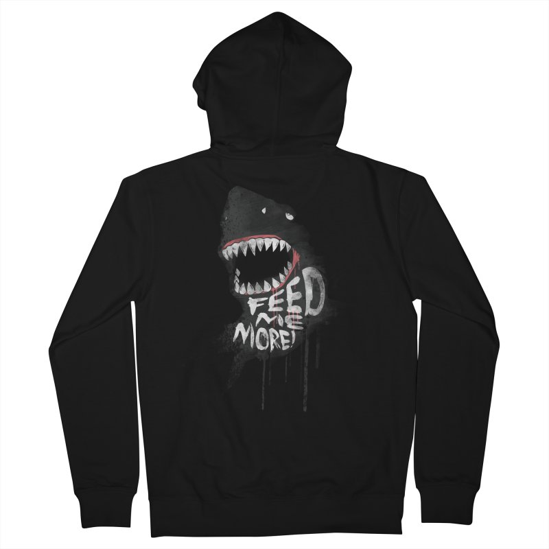 Feed Me More Men's French Terry Zip-Up Hoody by AGIMATNIINGKONG's Artist Shop