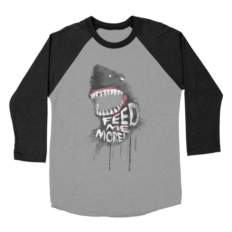 Feed Me More Women's Baseball Triblend T-Shirt by AGIMATNIINGKONG's Artist Shop