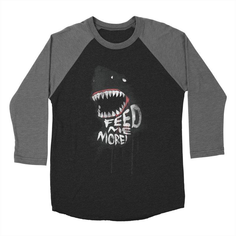 Feed Me More Men's Baseball Triblend Longsleeve T-Shirt by AGIMATNIINGKONG's Artist Shop