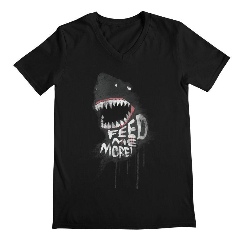 Feed Me More Men's V-Neck by AGIMATNIINGKONG's Artist Shop