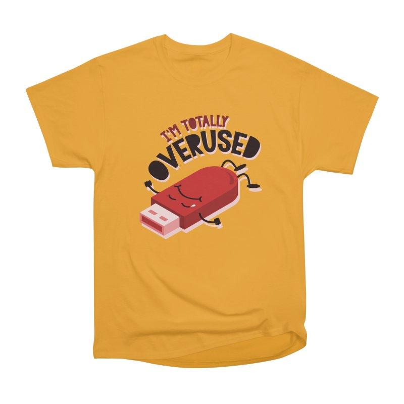 OVERUSED Men's Heavyweight T-Shirt by AGIMATNIINGKONG's Artist Shop