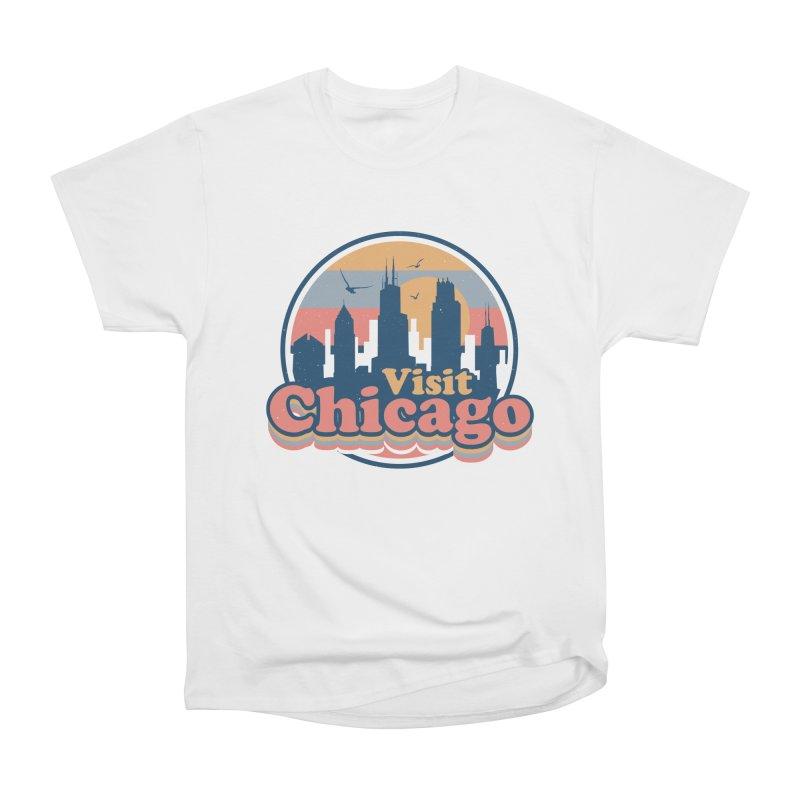 VISIT CHICAGO! Men's Heavyweight T-Shirt by AGIMATNIINGKONG's Artist Shop