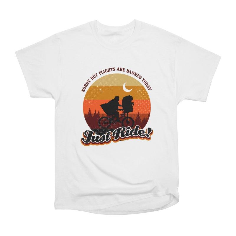 JUST RIDE! Men's Heavyweight T-Shirt by AGIMATNIINGKONG's Artist Shop