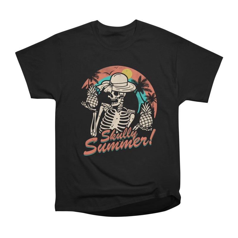 SKULLY SUMMER Men's Heavyweight T-Shirt by AGIMATNIINGKONG's Artist Shop