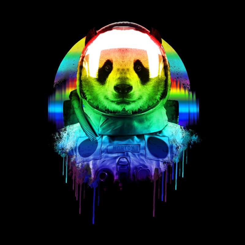 SPACE PANDA Men's Longsleeve T-Shirt by AGIMATNIINGKONG's Artist Shop