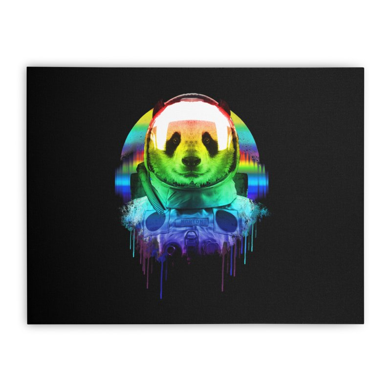 SPACE PANDA Home Stretched Canvas by AGIMATNIINGKONG's Artist Shop