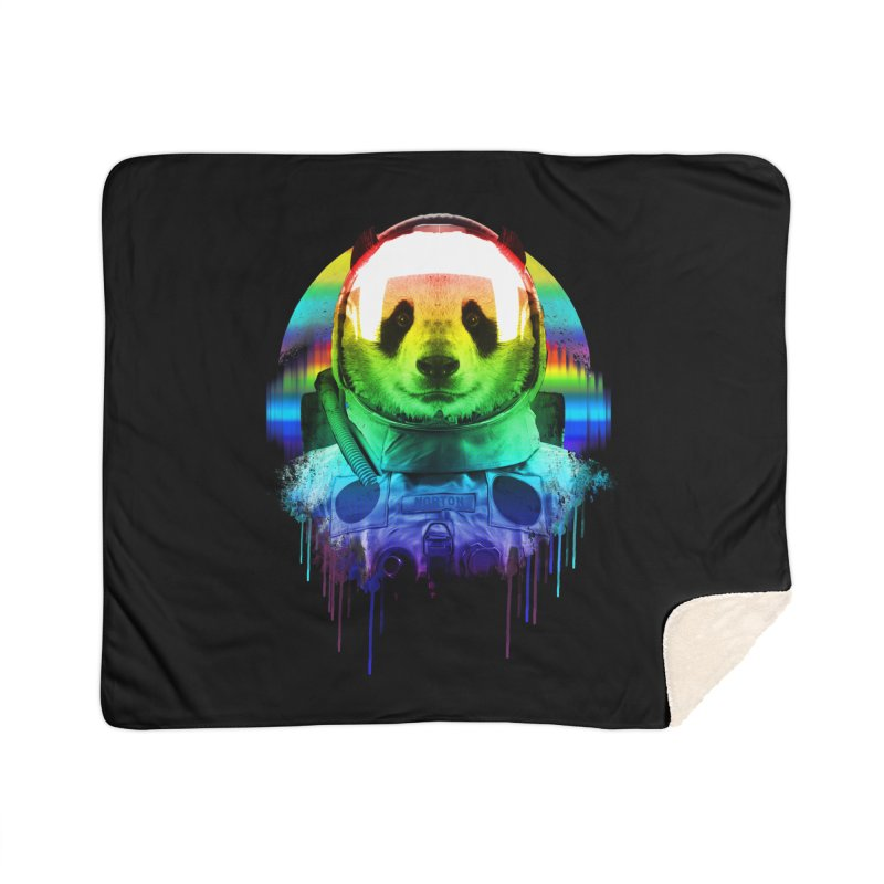 SPACE PANDA Home Sherpa Blanket Blanket by AGIMATNIINGKONG's Artist Shop