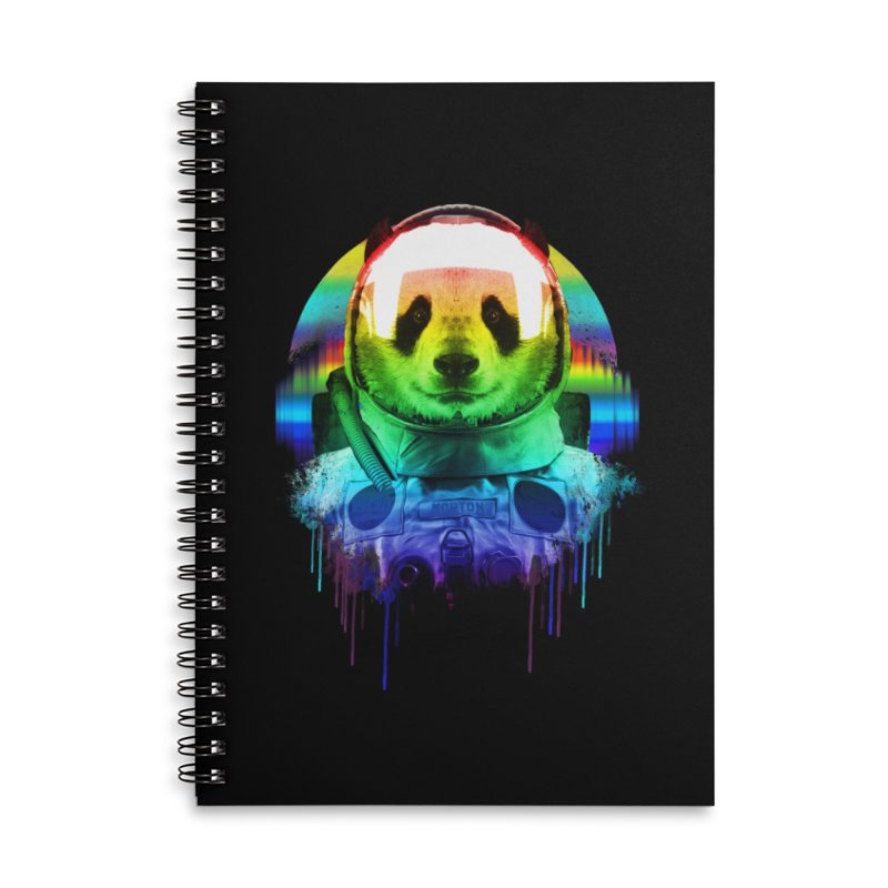 SPACE PANDA Accessories Lined Spiral Notebook by AGIMATNIINGKONG's Artist Shop