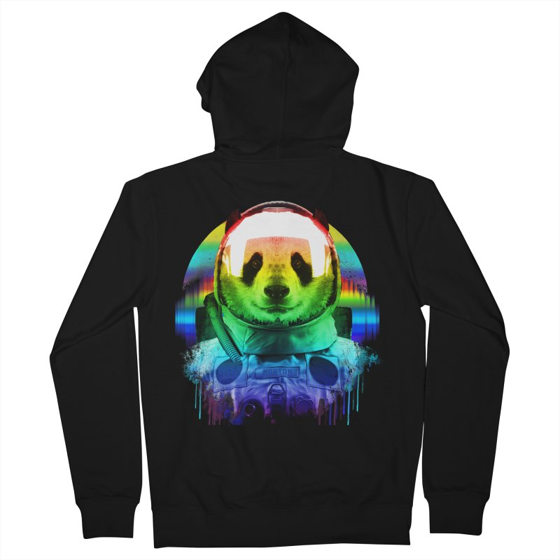 SPACE PANDA Men's French Terry Zip-Up Hoody by AGIMATNIINGKONG's Artist Shop