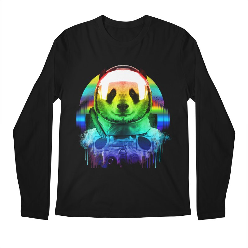 SPACE PANDA Men's Regular Longsleeve T-Shirt by AGIMATNIINGKONG's Artist Shop