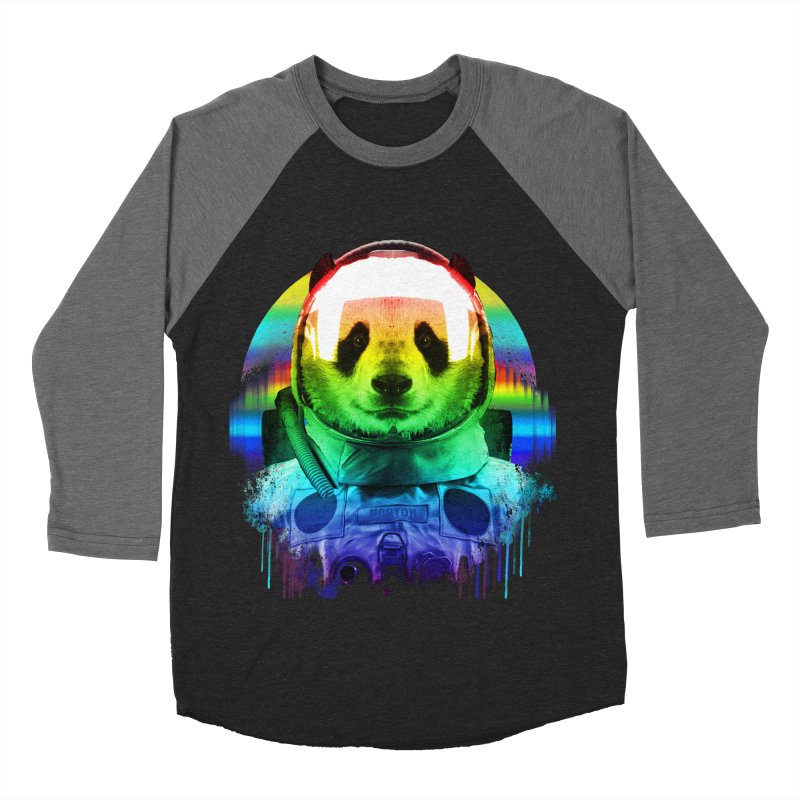 SPACE PANDA Women's Baseball Triblend Longsleeve T-Shirt by AGIMATNIINGKONG's Artist Shop
