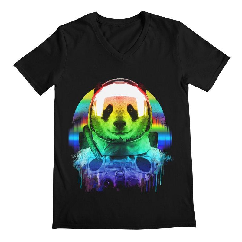 SPACE PANDA Men's V-Neck by AGIMATNIINGKONG's Artist Shop