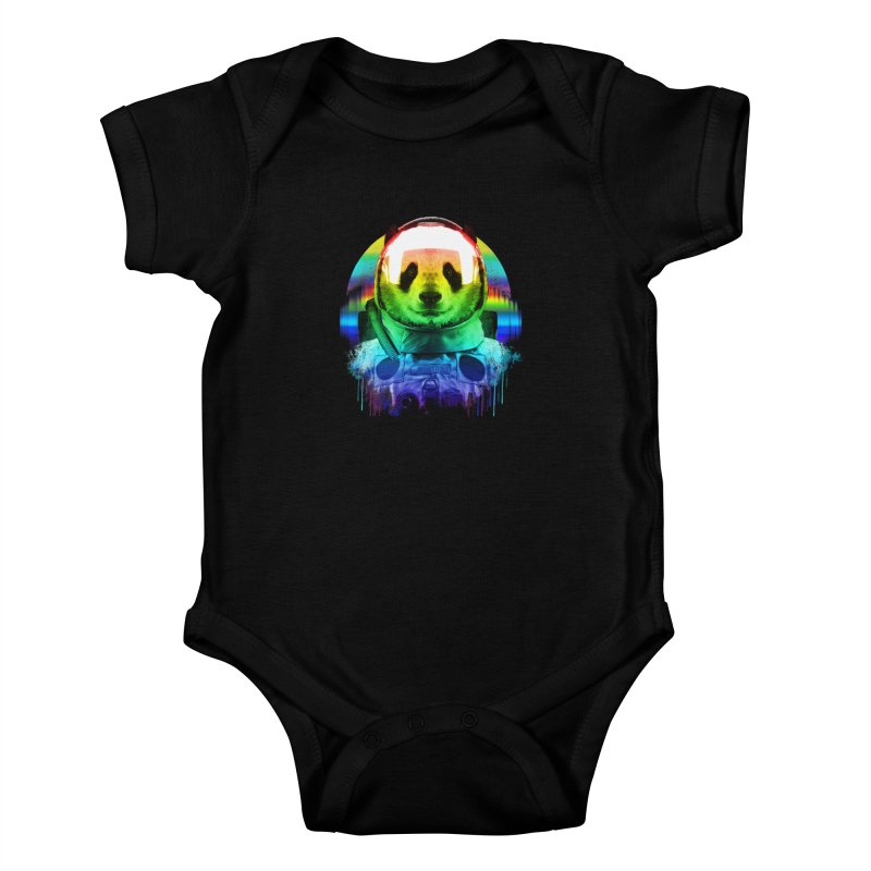 SPACE PANDA Kids Baby Bodysuit by AGIMATNIINGKONG's Artist Shop