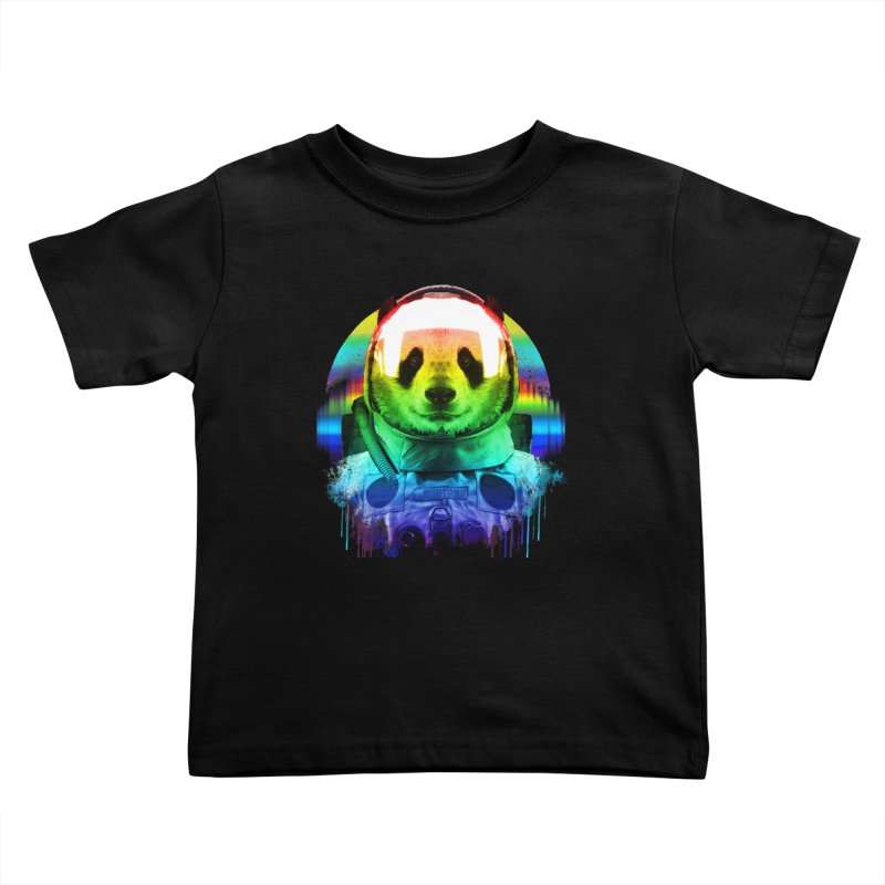SPACE PANDA Kids Toddler T-Shirt by AGIMATNIINGKONG's Artist Shop