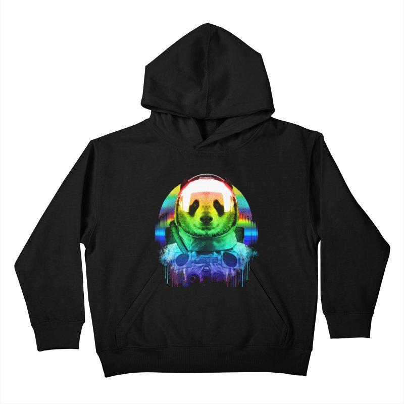 SPACE PANDA Kids Pullover Hoody by AGIMATNIINGKONG's Artist Shop