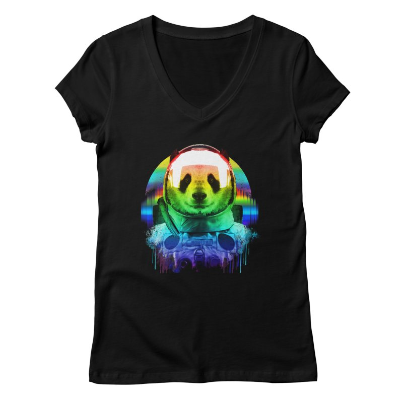 SPACE PANDA Women's Regular V-Neck by AGIMATNIINGKONG's Artist Shop